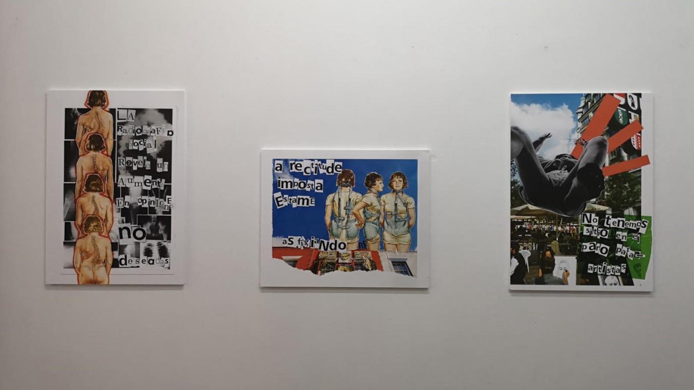Colaxes de Candela Eirea na exposición Voilà la femme
